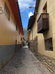 A narrow alleyway
