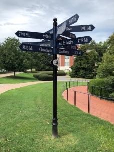 UMW Campus sign