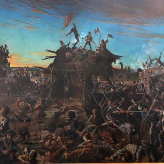 Dawn at the Alamo painting (detail)