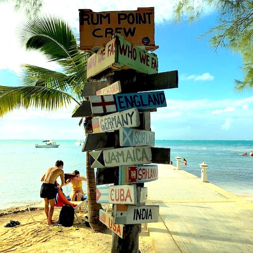 Rum Point sign