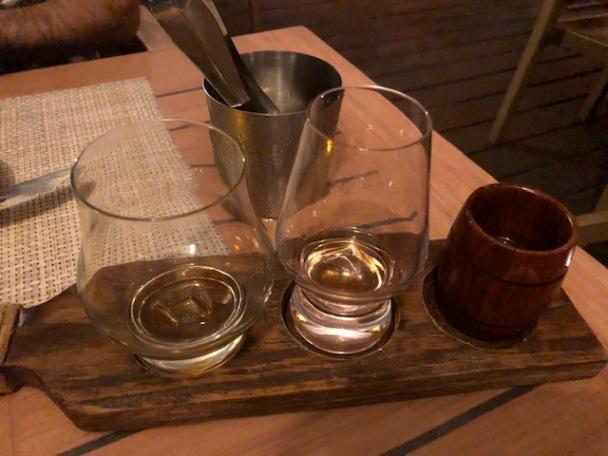 Cayman rum tasting flight