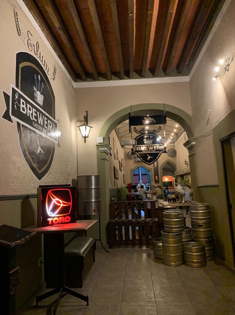 Erlum / Brewer Gastropub microbrewery entrance