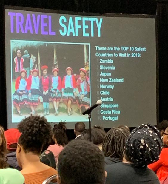 Kellee Edwards' presentation on travel safety highlights the top 10 safest countries to visit in 2019