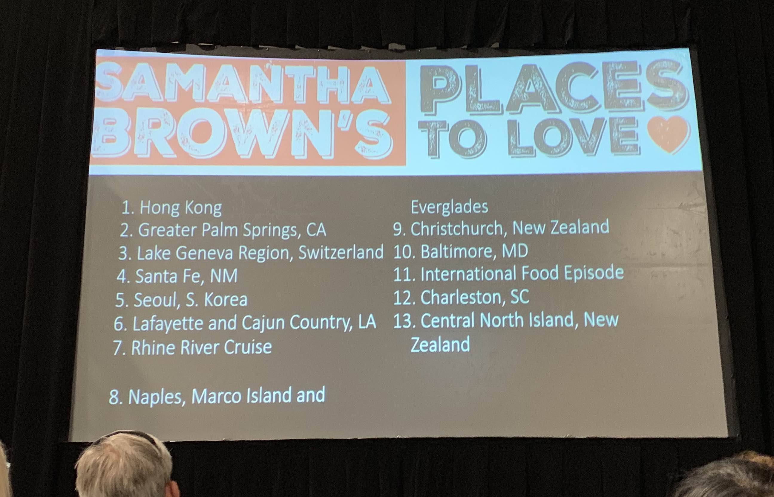 "Samantha Brown's ""Places to Love"" episodes on PBS"