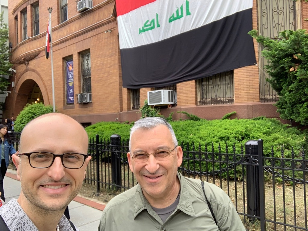 John & Mark at the Iraq Embassy. The Around the World Embassy Tour was held May 4, 2019 in Washington, DC