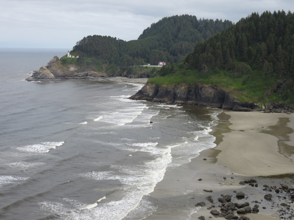 Heceta Head lighthouse and beach, Oregon coast