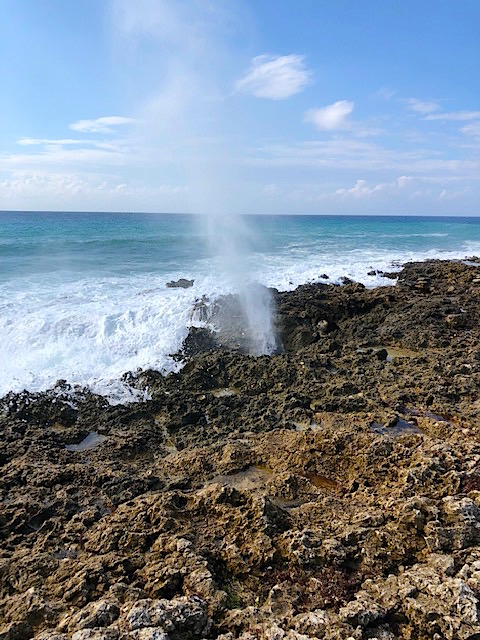 Random picture of a blowhole on the southern coast of Grand Cayman, from December 2018