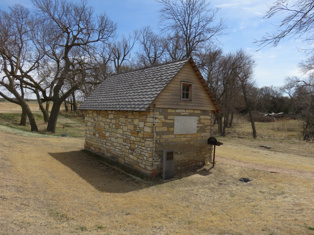 """Home on the Range"" cabin near Athol, Kansas"