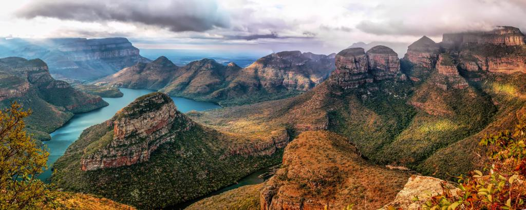 Panorama of Three Rondavels Viewpoint in northern South Africa